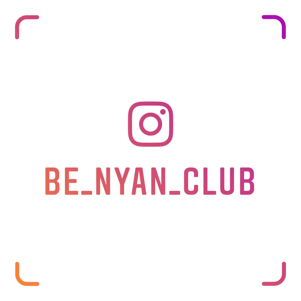 Instagram be_nyan_club_nametag